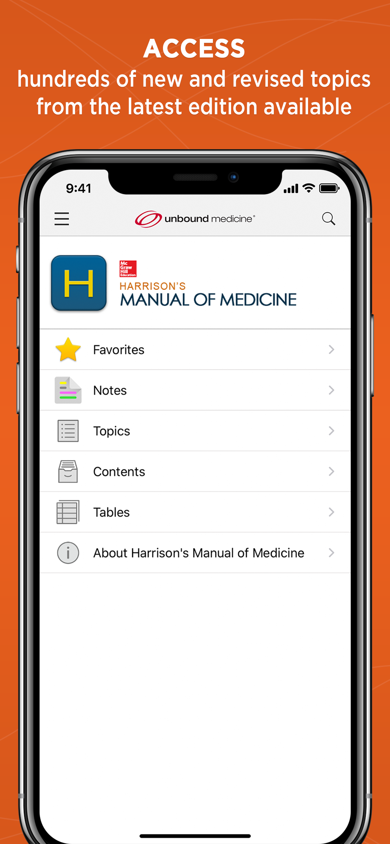 Unbound medicine harrisons manual of medicine app for ipad screenshots fandeluxe Gallery